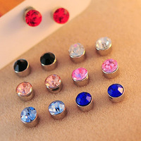 0562 Min. order $10 (mix order) Free shipping New arrival beautiful solid color magnet stud earrings for women