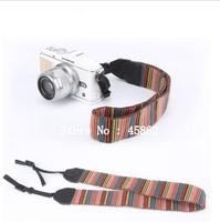 free shipping+ tracking number 5pcs Color Stripes Camera Shoulder Neck Strap Soft red for DSLR SLR