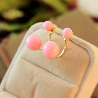 0027 Min. order $10 (mix order) Free shipping New arrival beautiful fashionable pearl stud earrings for lady 7 colors available