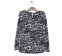 High Quality 3pcs/lot Autumn Winter New Arrival Sexy Women Girl Leopard Long Sleeve Slim Casual T-shirt Tops Two Colors 18487