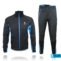 2013 arsuxeo cycling bike bicycle windproof  fleece thermal jacket 3d bib padded  pant uniforms suits AR13A
