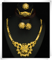 2013 New Design Women Jewelry set, Australia Crystal 18k Gold Plated Chunky Necklace&Bangle , Wedding Jewelry Sets C802