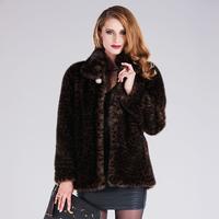 2013 hottest high quality Imitation mink marten velvet overcoat women's mink fur plus size 4xl winter thickening coat 355
