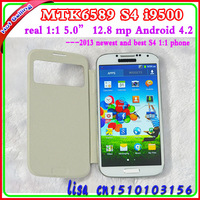 MTK6589 S4  Quad Core i9500 Android  Phone Real 1:1 32GB 1920*1080 IPS Smart Screen Air Gesture With Original Box