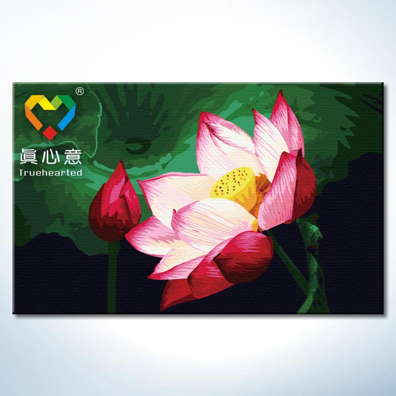 Famous Flower Paintings Lotus Flower Oil Painting