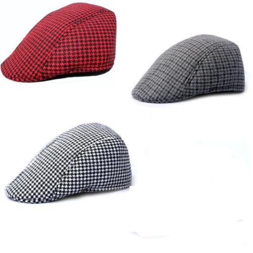 4Color Mens Tweed Flat Cap Herringbone Country Peak Hat Farmer Golf Classic free shipping(China (Mainland))