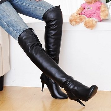 New 2015 Hot sale Knee high suede Winter flat boots Women long boots Fashion boots Plus size 34-47 Solid Black Brown White Grey(China (Mainland))