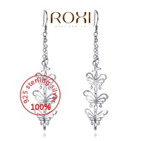 ROXI Sterling silver Fine Jewelry 925 Silver AAA zircon Modelling Beauty Butterfly Earrings Party Christmas Gifts3020101184