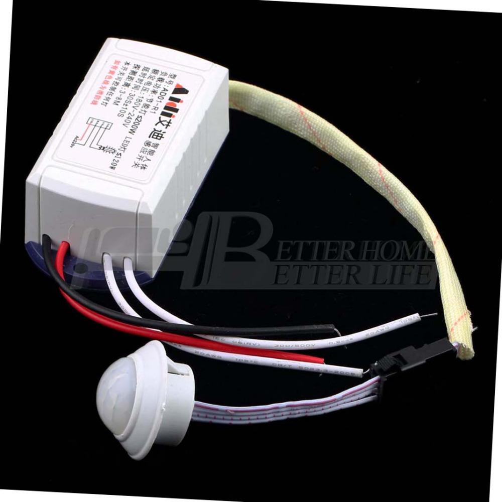 New 1pcs 200W 220V IR Infrared Module Body Sensor Intelligent Light Motion Sensing Switch YKS(China (Mainland))