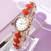 1pcs Women Dress Watch King girl A-9033 Casual Watches Quartz Crystal Hour Rhinestone watches Free shipping