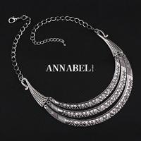 2015 Brand Jewellery Vintage Silver Choker Statement Necklace for Women Metal Fashion Bohemian Necklaces & Pendants