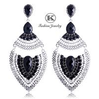 New 2014 Luxury Quality Sexy Quality Fashion Hot Bohemia Peacock Zirconia earring Retro Crystal Drop Earrings for Women