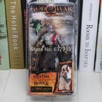 "7.5"" NECA God of War Kratos in Golden Fleece Armor with Medusa Head PVC Action Figure Collection Model"