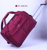 Fashion Brand Trolley men women luggage travel bags large capacity with wheels duffel bag sports bag road free shipping