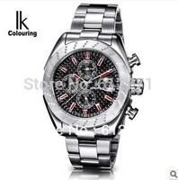 Guarantee! brand IK colouring High quality men full steel mechanical watch fashion dress sports business sapphire glass watches