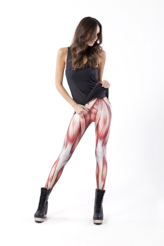 2014 Autumn Summer Plus Size Printed Pants Colorful Leggings Muscle Explosion Models Le