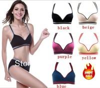 2014 Hot 3pcs Free shipping retail Fashion Sexy Seamless sports yoga Y888 Leisure similar Ahh / Genie sport leisure Push Up Bra