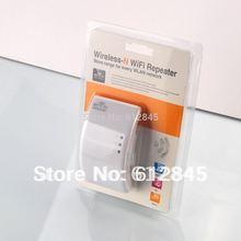Rápido shiping Free Wireless -N Wifi Repeater 802.11b / g / n Rede Router Faixa Expander 300Mbps adicional Antenas US / EU / AU plug(China (Mainland))