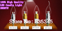 10PCS / Lot LED Candle Light 2835SMD Bulb Lamp High Brightnes 3W 5W 7W  E14 AC220V 230V 240V Cold White / Warm White