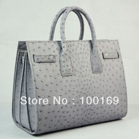 Genuine ostrich leather lady handbags_ostrich skin bag_ostrich purse