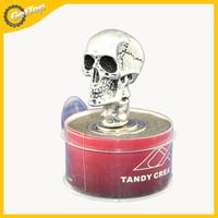Universal Skeleton Car Electronic Cigarette Lighter Plug Skull Head Tobacco Lighter DC 12V Silver/Red/Black/Green Color