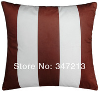 "2 pieces a pair Solid color stripe cushion cover pillow case18""x18"" wholesale price"