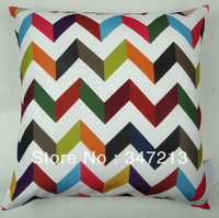 "18""x18"" geometric cushion cover home decorative pillow case"