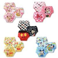 3pcs/lot Baby Potty Training Pants/Newborn Diaper Cover/Reusable Washable Training Urine Nappies/Cartoon Nappy