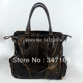 Vintage handbag brand handbag desigual bags genuine leather handbag brwom big bag for man Chrismas gift
