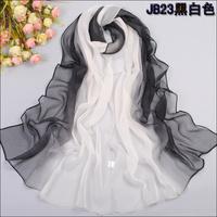 2014 Hot Style New Women's Fashion Tie-dye Patchwork Gradual colors chiffon georgette silk scarf/ shawl W4226
