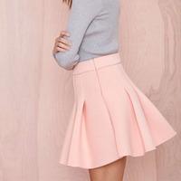 FREE SHIPPING new fashion 2015 women's Spring summer Slim High waist Invisible side zipper fold waist princess skirts XS-XXL