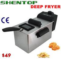 SHENTOP electric stainless steel  Deep Fryer 3L fryer  enamel tank STKL-3L