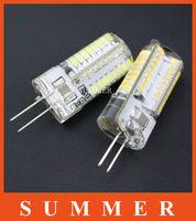 SALES!!!New 6W 220V G4 64LED 3014SMD Car Lights caping Spotlight Light Lamp Warm White/White G4 Droplight spotlamp