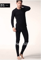 Retails! Men's Cotton 2 Piece Top and Bottom Thermal Long Johns Set Underwear Pajama Long Sleeve Crew Neck Free shipping