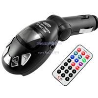 3PCS/LOT Black Car MP3 Player Wireless FM Transmitter USB SD MMC Slot. support USB flash memory B16 1268