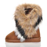 TZ-002 Promotion 2013 Hotest sale women Suede Flat snow Boots winter warmly cotton boots