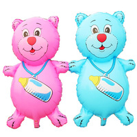 new arrival big balloon for baby birthday party suplies/bear with milk bottle balloons for birthday party/helium foil balloons