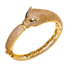 New Trend Ladies bangle Luxury Leopard head Bangles Lead Free Propose Marriage Present