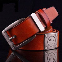2014 New! Men's Designer Belt/Head Layer Cowhide Leather Belt/Genuine Leather Belt Military Belt/Three Colors/Free Shipping