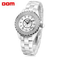 ladies watch women wristwatches   Dom        ceramic  dive quartz   casual  dress watches relogio feminino reloj mujer montre