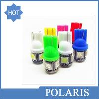 Car led light w5w T10 5SMD 5 SMD 5led 5 Leds 5050SMD white lamp bulbs wholesale