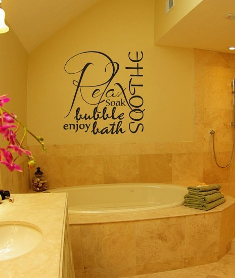 Bath quotes and sayings quotesgram for Bathroom sayings for walls