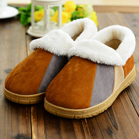 6403 Min order $10 (mix order) free shipping Men winter slippers lover's non-slip cotton shoes waterproof mosaic color slippers