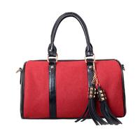 fashion women fringe bag women bolsa de franja leisure messenger bag fashion tassel shoulder bag bucket handbag free shipping Z5