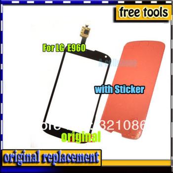 1pcs Original Touch Screen Glass Digitizer FOR LG Nexus 4 E960 Mako front panel replacement +sticker +tracking NO.