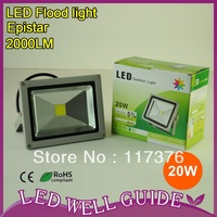 20w led flood outdoor lamp wall lights led 20w chip IP65 waterproof 2 years warranty AC85V~265V 12pcs/lot Free shipping