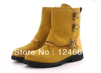 2013 autumn and winter scrub genuine leather men boots  fashion high knee casual men boots