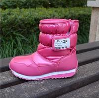 2014 warm children snow boots boys girls child boot winter waterproof anti-skidding rubber sole children's shoes size 26-38