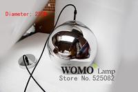 Free shipping plating glass chandeliers Copper visor mirror ball lights chandelier,chandelier bulb diameter 25cm,220V,e27 2013