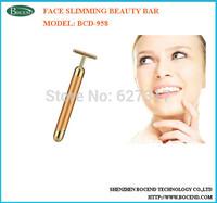 T-shape 24K golden beauty bar face slimming massager
